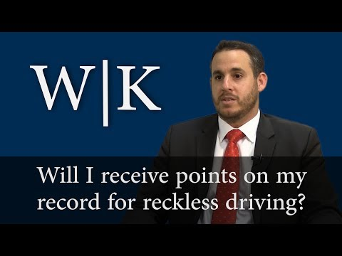 Will I Receive Points on My Driving Record for Reckless Driving?
