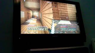 Me and my little brother playing minecragt