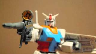 Gundam Beam rifle test (Stop motion) GUNPLA