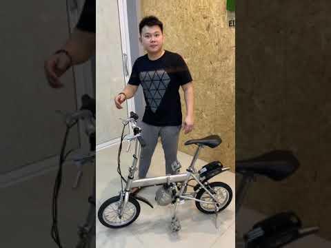 จักรยานไฟฟ้าปั่นและบิดได้