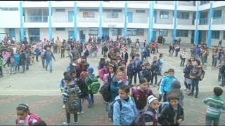 Gaza children return to school following Israel offensive