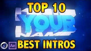 TOP 10 Intro Templates #1 Cinema4D & After Effects + Free Download