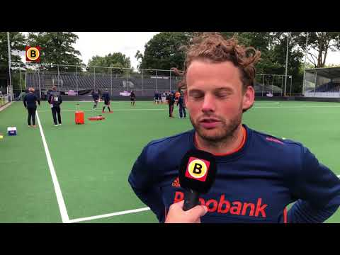 Hockeyer Bob de Voogd wil Champions Trophy in Breda winnen.