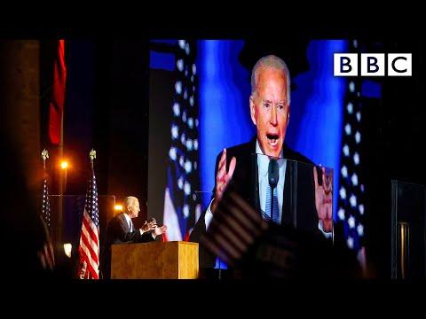 Joe Biden's first speech as US president-elect 🇺🇸 US Election 🔴 @BBC News live – BBC