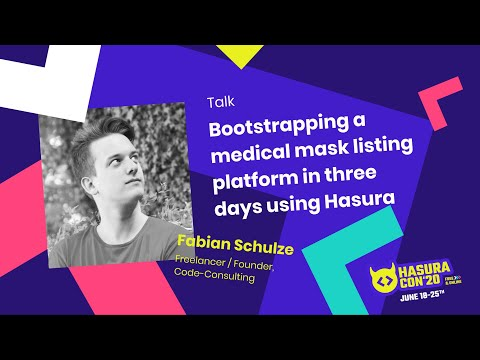 Bootstrapping a medical mask listing platform in three days using Hasura