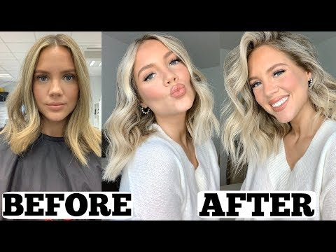 Going BLONDER & How I CURL It | Short Hairstyles | Elanna Pecherle 2019
