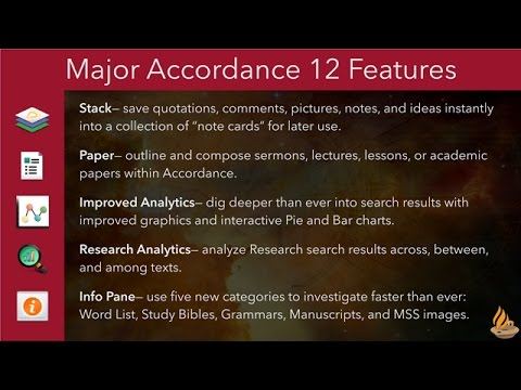 Accordance 12 Features (Lighting the Lamp Video Podcast #149)