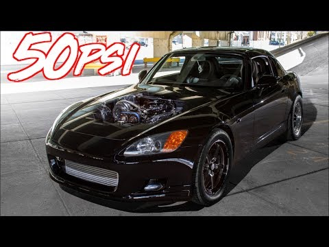 1350HP 2JZ S2000 50PSI Ride Along - Rolling Antilag BOOST!