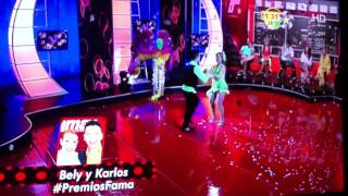 Bely y Kaoz en Premios Fama