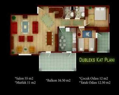 Evada Dubleks Kat Plan