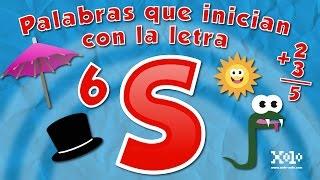 Palabras que inician con la letra S en español para niños - Videos Aprende