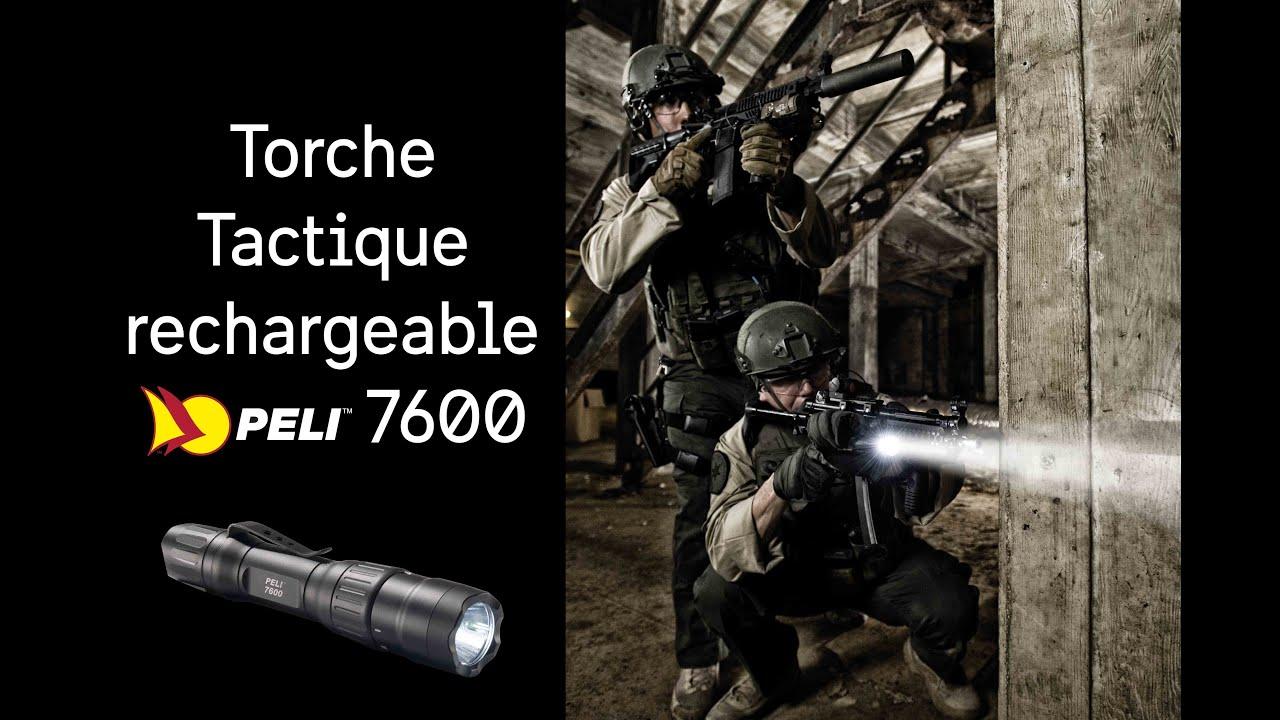 Torche Tactique Peli 7600 Rechargeable