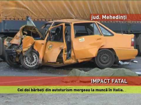 Accident mortal pe o șosea din Mehedinți