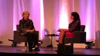 Hillary Clinton speaks about the 2017 sex scandals