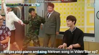 Kim Minjae sing his self-composed song