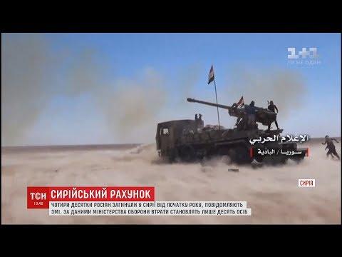 Сорок  росіян загинули від початку року у війні у Сирії