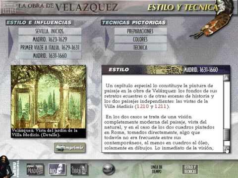 El Museo Virtual: La Obra de Velázquez (Estilo y Técnicas Pictóricas) (Dinamic) (Windows 3.x) [1996]