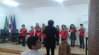 Recital infantil de violino.