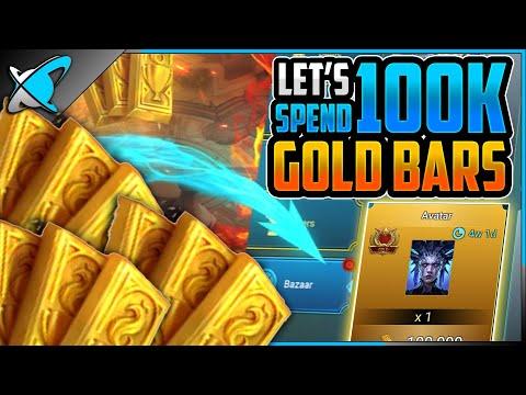 "Spending ""100K GOLD BARS"" | MY Bazaar Monthly Buying Guide | RAID: Shadow Legends"