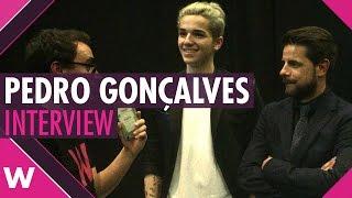 """Pedro Gonçalves """"Don't Walk Away""""   Festival da Canção 2017 Semi Final 2 (INTERVIEW)"""