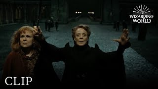 Professor McGonagall Protects Hogwarts | Harry Potter and the Deathly Hallows Pt. 2