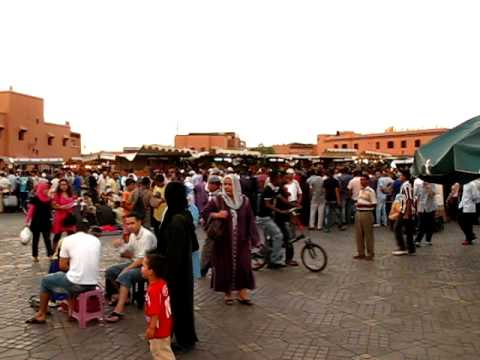 Morocco Marrakech Djemaa el Fna By Day