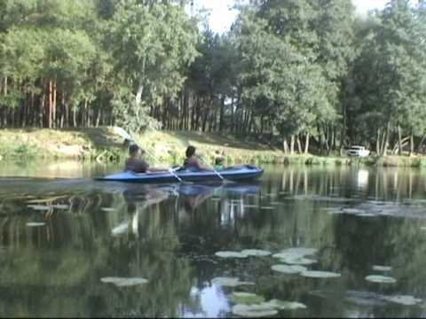 My kayak travel on the river Psel