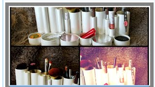 DIY Makeup Organization by 100 % Pure empty boxes
