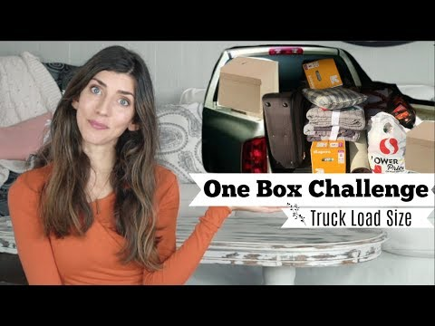 ONE BOX CHALLENGE 2018 | TRUCK LOAD SIZE PURGE | Momma from scratch