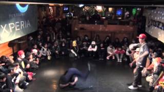 RIKU vs IKKI(DANCE GAMBA!!!) QUARTER FINAL③ / DANCE@LIVE KIDS KYUSHU CLIMAX 2015