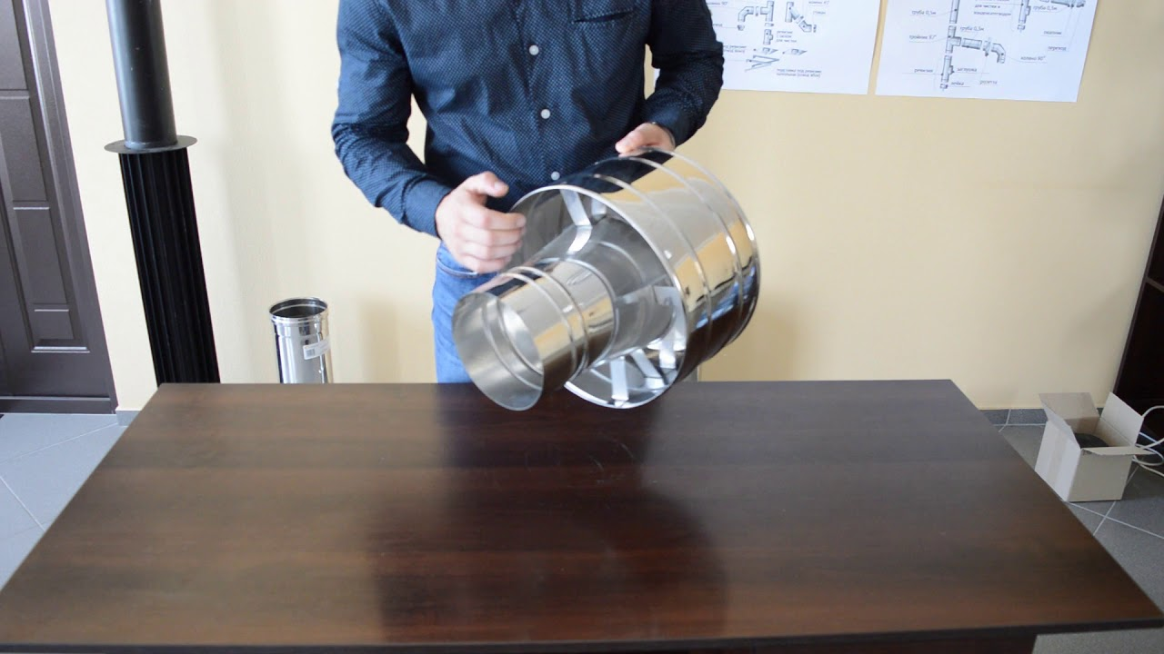 Дефлектор дымоходный из нержавеющей стали Ø250 мм толщина 0,6 мм