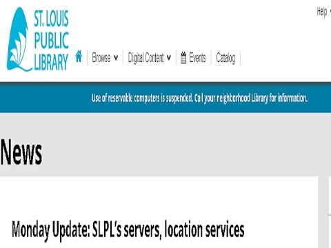 St. Louis Public Library - Victim of Ransomware Malware Attack
