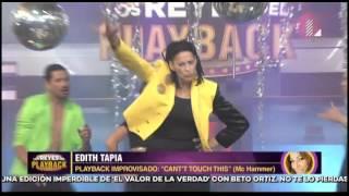 Este fue el playback improvisado de Edith Tapia