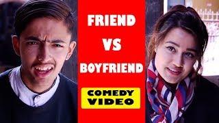 Friend Vs BoyFriend | Soltini ft. Riyasha | Nepali Comedy Video | Short Movie 2019 | Filmy Guff