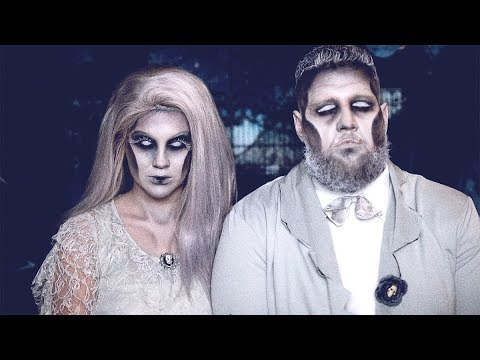 My Fiancé Does His Own Halloween Makeup | Ghostly Bride & Groom