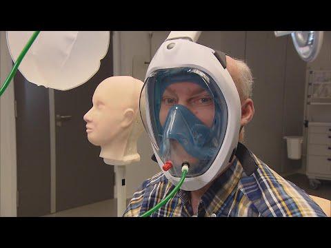 Met dit snorkelmasker kunnen coronapatiënten zuurstof krijgen