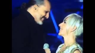Ana Torroja y Miguel Bosé grabación conexión 3 12 2014 video de @javierderma instagram