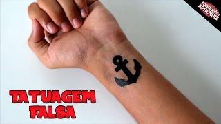 Como fazer Tatuagem falsa (Realista e fácil)