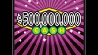"Texas Lottery $20 ""500,000,000 Cash Scratch Off #3"