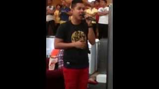 This Filipino sings a duet all alone - The prayer Celine Dion and Andrea Bocelli
