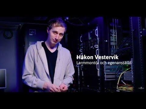 Håkon Vestervik, larmmontör och egenanställd hos Frilans Finans