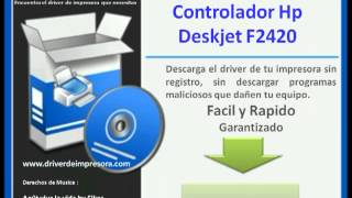 Tips for download hp deskjet f2420 printer driver program.