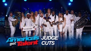 "Alex Boye: Band Delivers High-Energy ""Uptown Funk"" Cover - America's Got Talent 2015"