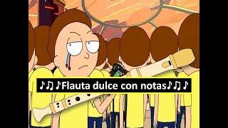 Rick and Morty Soundtrack - Evil Morty's Theme (Flauta dulce)