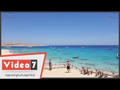 """هنا شاطئ """"محمية"""" أجمل شواطئ الغردقة على جزيرة الجفتون"""