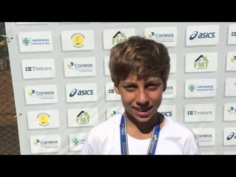 Pedro Boscardin Dias é bicampeão brasileiro de 12 anos