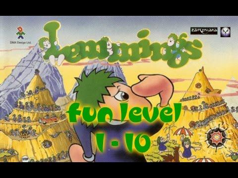 Lemmings (1991) - PC - Fun Level 1 to 10
