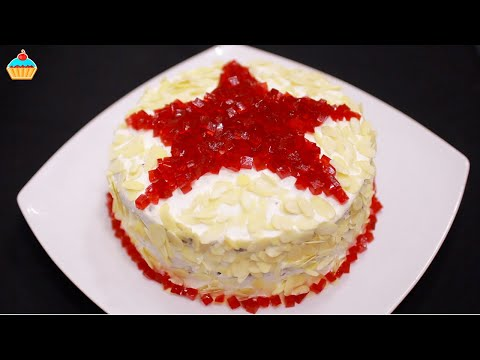 Торт «Рубиновая ЗВЕЗДА» — Оочень вкусный! Простой рецепт на 23 февраля.