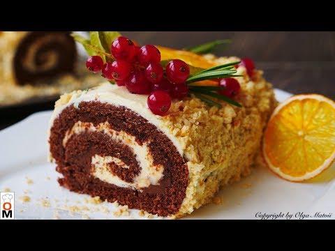 ПРОСТОЙ Шоколадный Рулет НУТЕЛЛА, На вкус лучше Торта