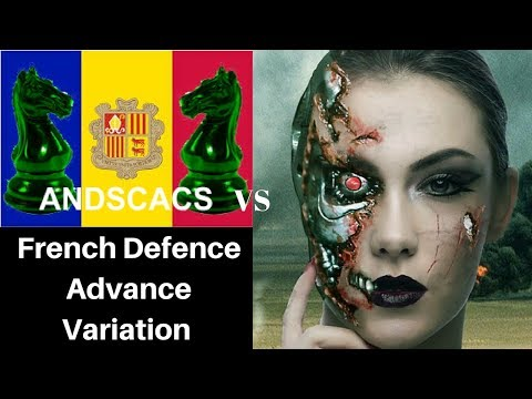French Defence Advance Chess Opening: Andscacs 0.93 vs Leela Chess ID 470